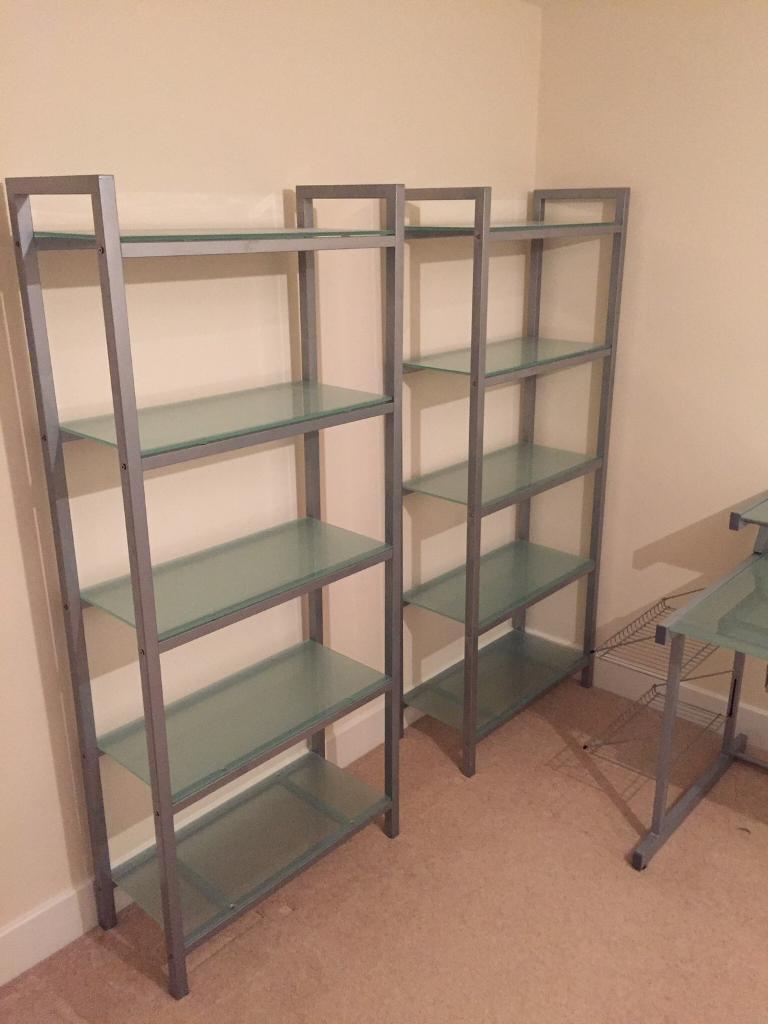 John Lewis Soho Glass Shelves / Bookcase (x2)
