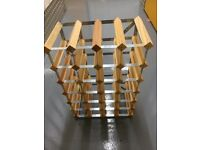 Classic 24-bottle wine rack, suitable for kitchen or cellar
