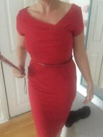 Next Red 50s Style Dress