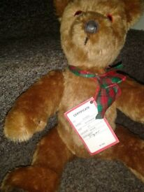 vintage teddy bear (THE LITTLE BEAR )NUMBER 01408