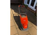 Flymo Turbo Compact 330 Vision lawnmower. and Bosch AMR 32F Lawn scarifier