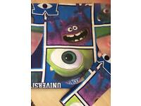Monsters inc cot/cot bed Quilt Cover And Pillow Case