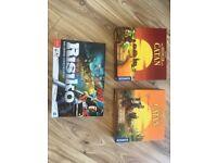 Boardgame settlers & risk (German version) for a bargain