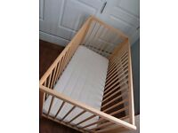 Ikea Gulliver Cot Bed + Vyssa Skont Mattress