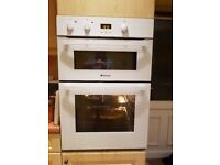 Hotpoint DH53WS electric double oven.