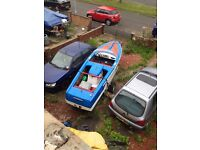 "MOONFLEET AQUILA - 15'6"" CLASSIC SKI SPEED BOAT 1963 TRAILER ( SOLD !!!!!!!)"