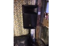 Yamaha Stagepas 500 P.A. speakers portable live