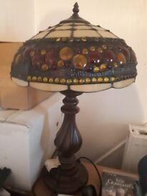 Genuine pair of tiffany lamps