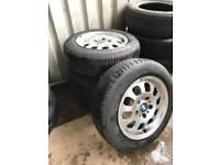 """15"""" BMW wheels complete with tyres (5mm - 6mm tread)"""