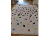 Multicolour modern rug. Excellent condition.