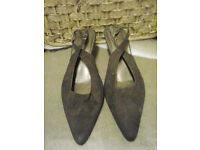 Ladies brown suede shoes size 7