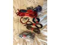 Fly wire amplifier kit and speaker wire