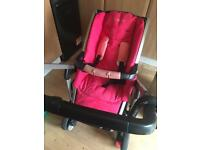 Maxi-cosi buggie with maxi-cosy foldable carrycot and fitting kit pebble (SET)