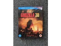 Godzilla Blu Ray (2D/3D/Ultraviolet)