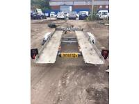 TiltBed aluminium Car Transporter Twin Wheel can carry any car and upto medium van