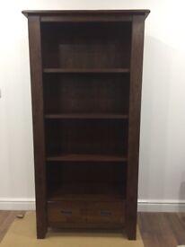 Solid dark wood book shelf