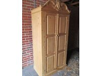 Double Pine Wardrobe for Sale