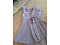 2 x navy TU check girls school dresses age 3