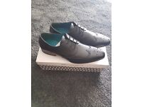 River Island black brouges size 10 brand new