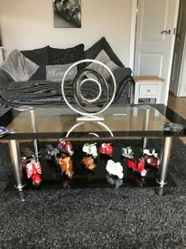 black glass coffe table