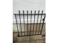 Wrought iron railings and gate. See all pics.