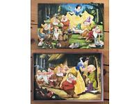 Two Snow White 20 pieces puzzles