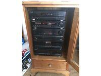 Pioneer Hi-Fi (Wharfedale E-20 Speakers)