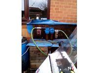 Veg oil filter systems and used veg oil.