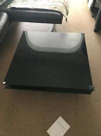 Gloss black square table