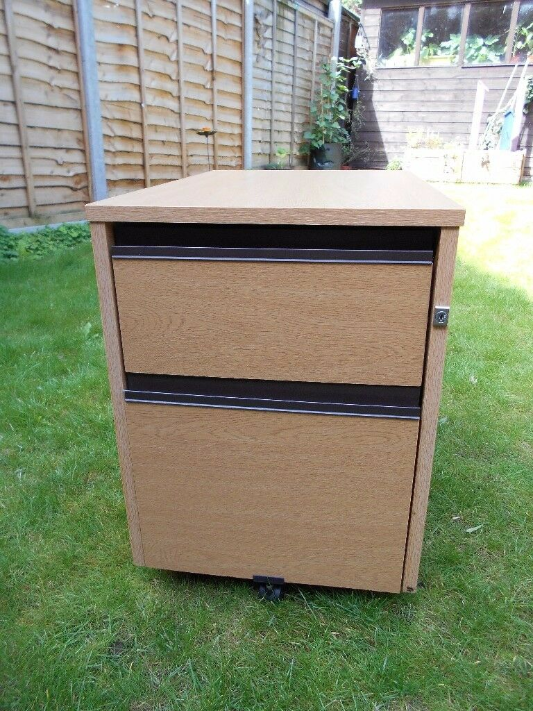 Small Wooden Storage Unit/ Filing Cabinet