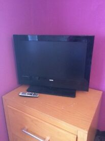 "26"" TV with free view and remote"