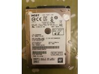 "HGST 2.5"" Inch 1TB Laptop SATA Harddrive HDD, N13508, 5400rpm, 6GB/s, Fully Functional and Wiped"