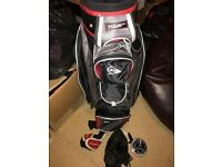 Red and Black Dunlop Golf Bag - Vgc