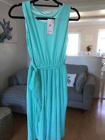 Mint Chiffon dress BNWT size Small (probably 8)