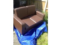 Brown sofa suite. £30 for the lot pick up only