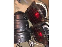 Two Used PAR 36 cans with lamps plus other parts