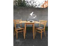 VINTAGE TABLE /DESK WITH CHAIRS FREE DELIVERY RETRO MIDCENTURY 🇬🇧