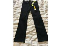 Womens straight black jeans
