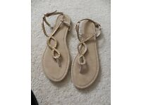 M&S Toe post sandals brand new size 8