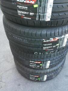 BRAND NEW WITH LABELS YOKOHAMA ULTRA HIGH PERFORMANCE  ' Y ' RATED 225 / 50 / 17 TIRE SET OF FOUR.