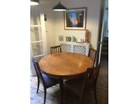 G-Plan Extending Dining Table with 4 Chairs