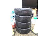 VOLKSWAGEN TRANSPORTER STEEL WHEELS AND TYRES