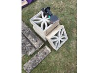 Coping stones and decorative blocks