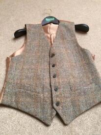 Brand New Harris tweed kilt jacket & waistcoat.