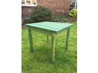 Children's Wooden Play Table. Measuring 23 inch width x 20 inch depth x 20 inch height.