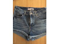 Top Shop denim shorts - size W26