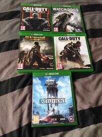 5 Xbox one games £50