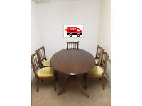 Solidwood Dinning table & 5 chairs (free delivery)