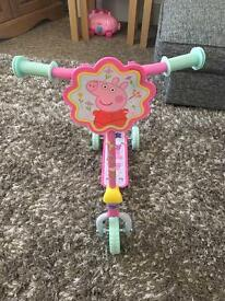 Peppa pig childs scooter