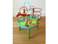 USED ELC wooden activity bead table